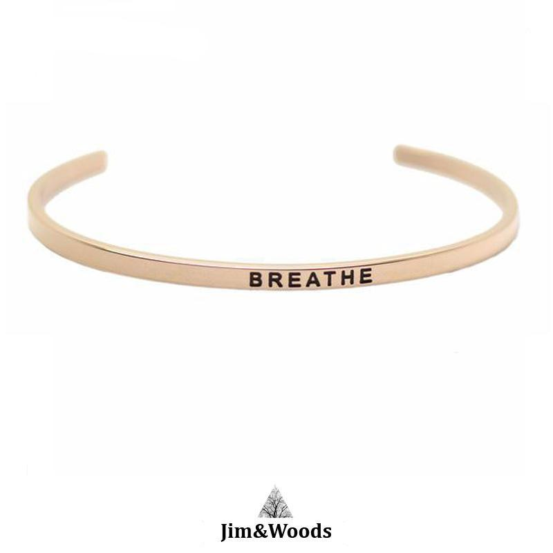 Bracelet Jonc Mantra ROSE BREATHE