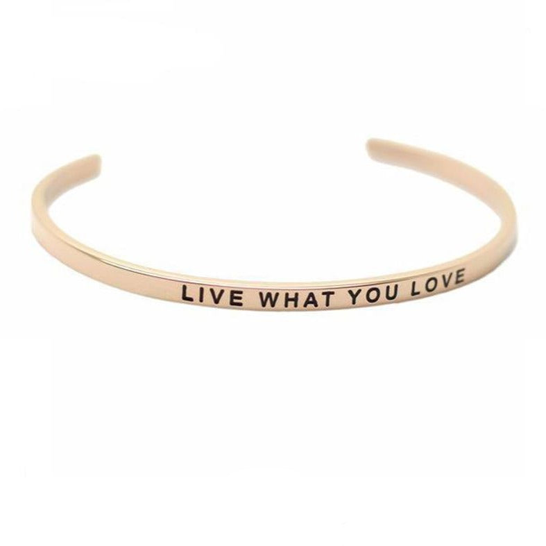 Bracelet Jonc Mantra ROSE LIVE WHAT YOU LOVE