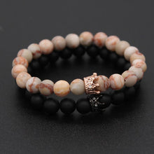 Charger l'image dans la galerie, Bracelet distance couple Luxury Queen noir et rose
