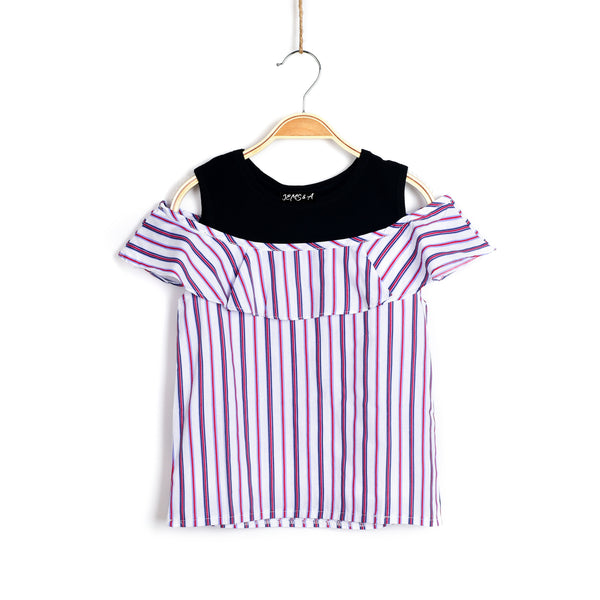All American Girl Top - Stripes