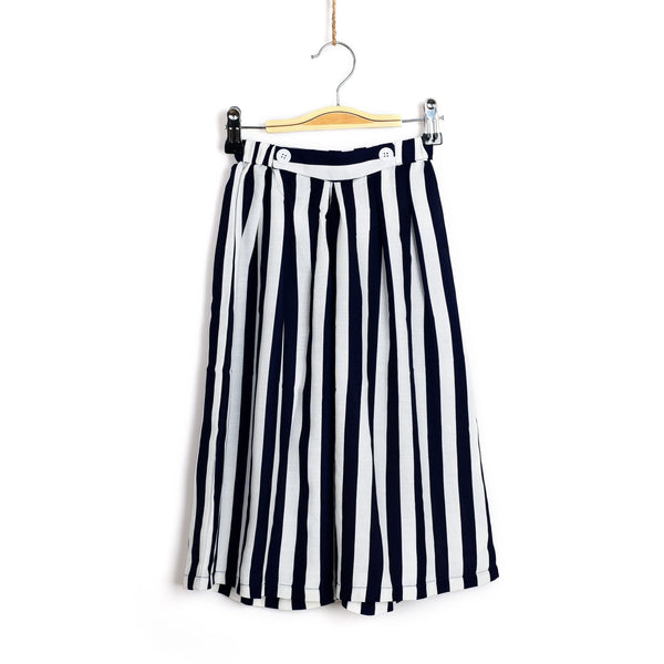 JEMS Signature Wide Leg Culottes - Stripes