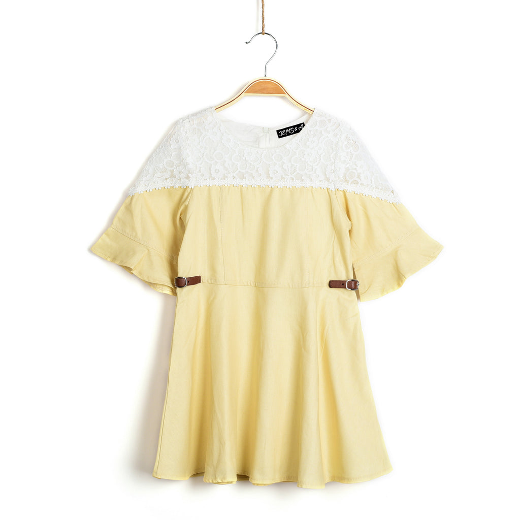 Kate Dress- Pastel Yellow