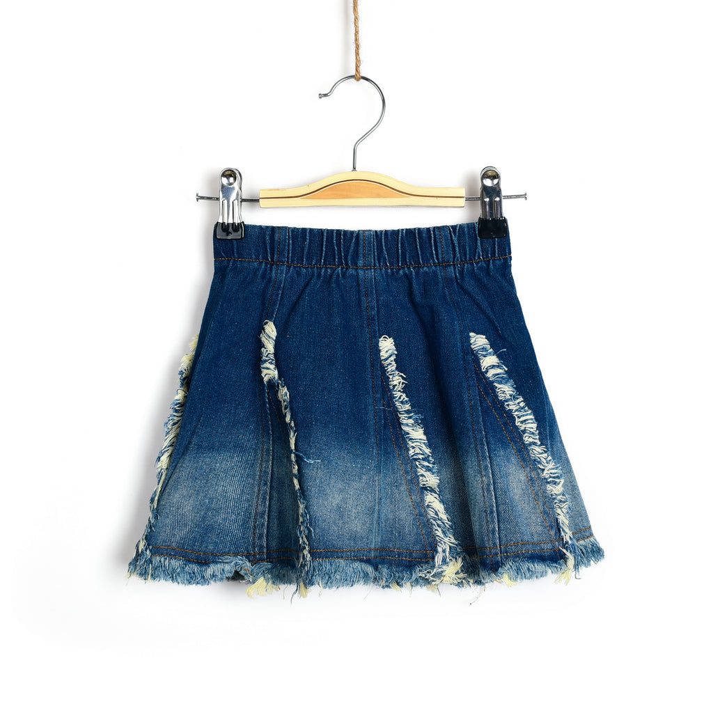 Pop and Fray Denim Skirt