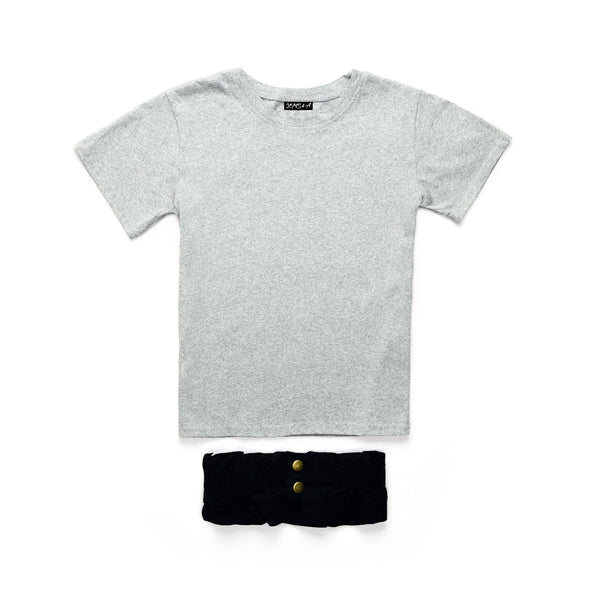 Basically Belted Tee - Grey