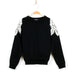 Lyla Embroidered Shoulder Sweater - Black