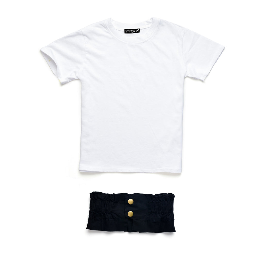 Basically Belted Tee - White
