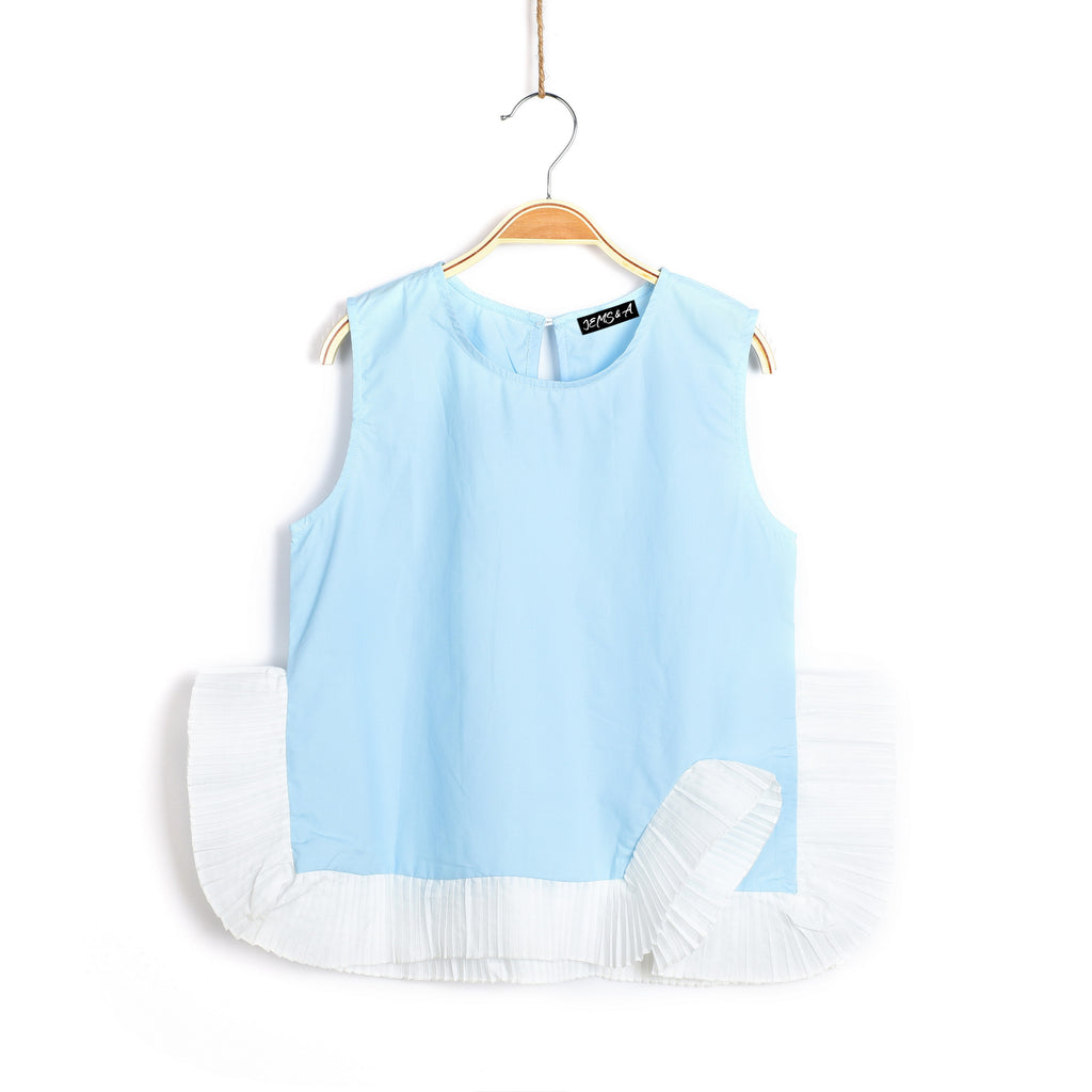 Roxy-N-Ruffles Top - Baby Blue