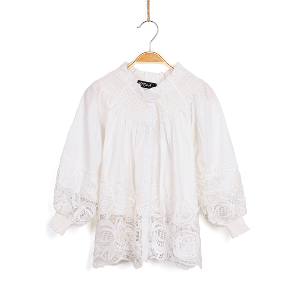 Lacey Button Up Blouse