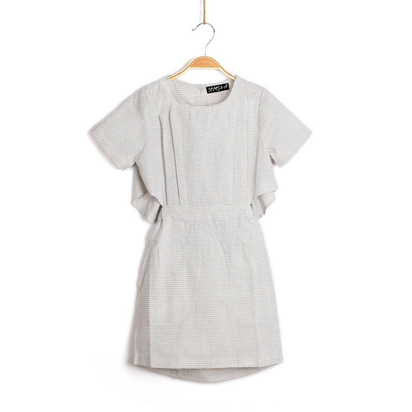 Peek-A-Boo Dress - Heather grey