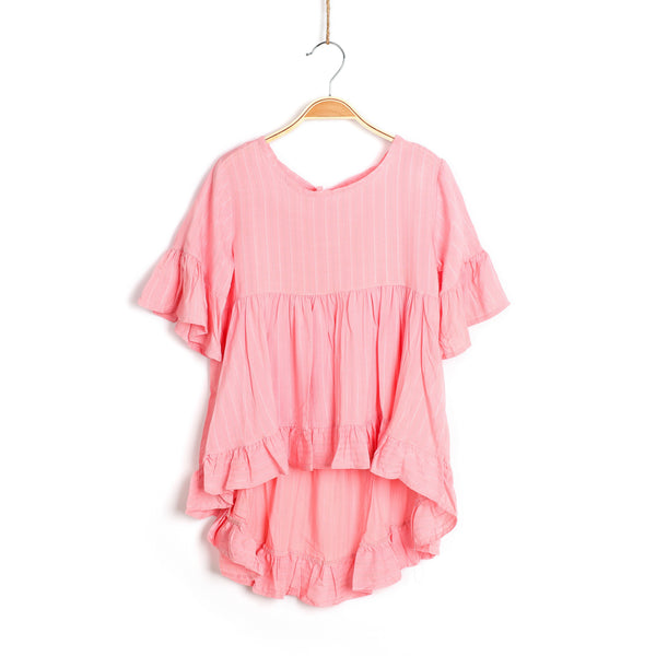Frills and Me Tunic - Pink
