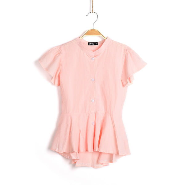 Ariel Summer Blouse- Baby Pink