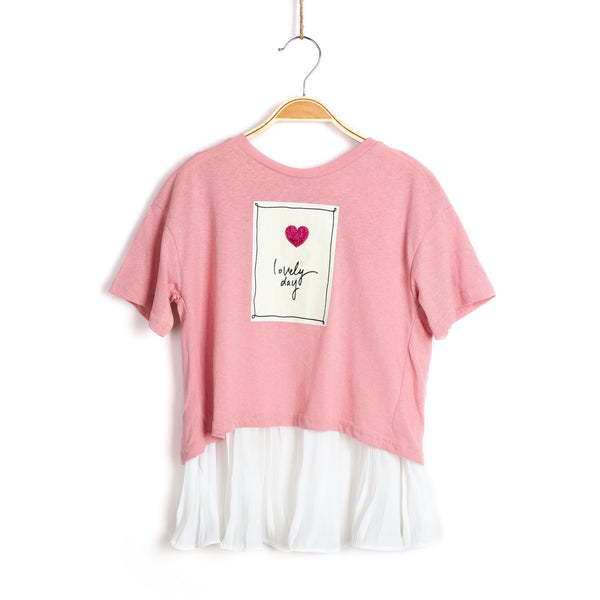 Lizzie Short Sleeve Top - Blush