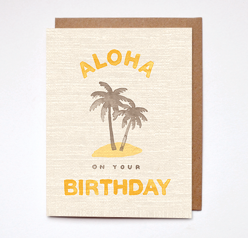 Aloha Birthday Card