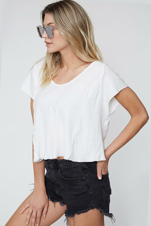 Calimesa Hi-Lo Crop Top