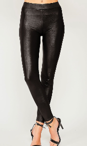 Faux Black Leather Leggings