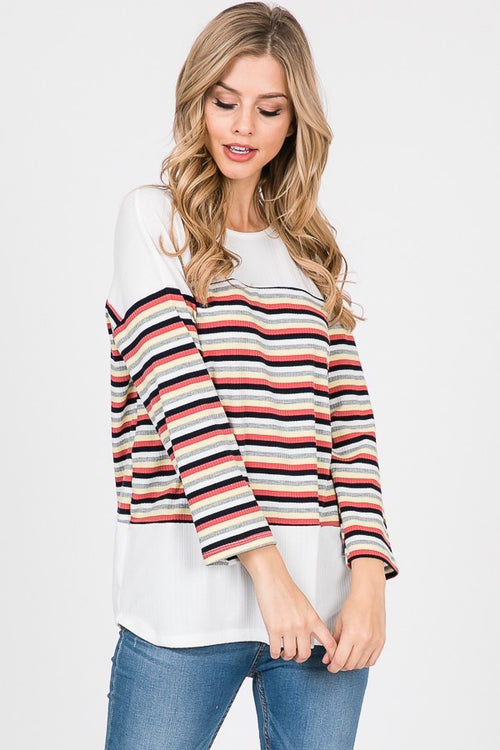 Sausalito Striped Long Sleeve Top