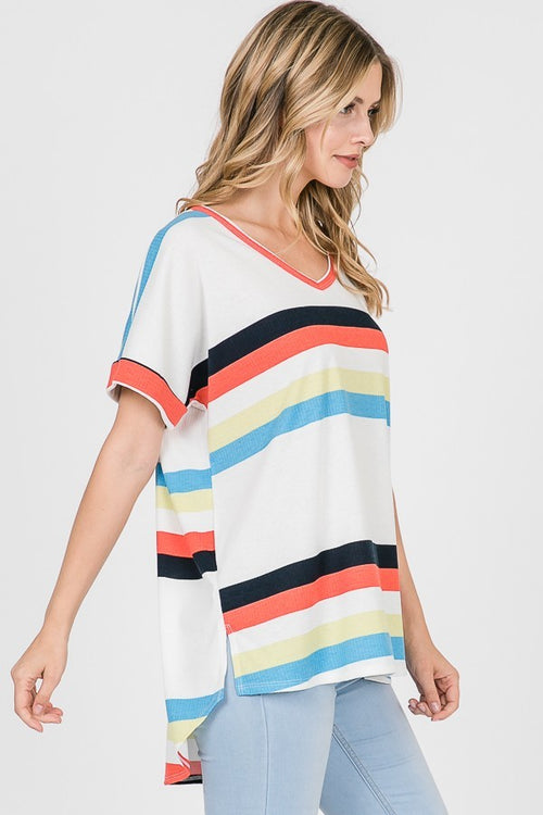 Selma Wide Striped Tee