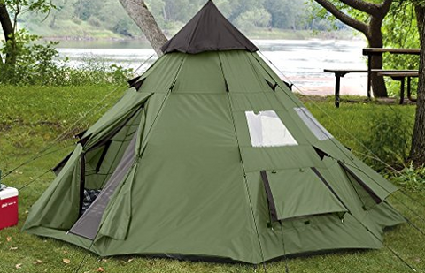 10ft by 10ft Guide Gear Teepee Canvas Tent & Top 50 Best Canvas Tents of 2017 u2014 tentsy