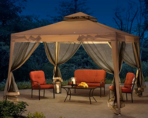 Luxury Canopy Tent by Sunjoy - $259.99 : brown canopy tent - memphite.com