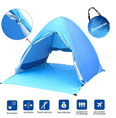 A spacious lightweight 2 person instant tent works for c&ing and hanging at the beach. Best for used for clear skies and made from UV-protectant ...  sc 1 st  Tentsy & Top 25 Best 2 Person Instant Tent Products of 2017 | Tentsy Review ...