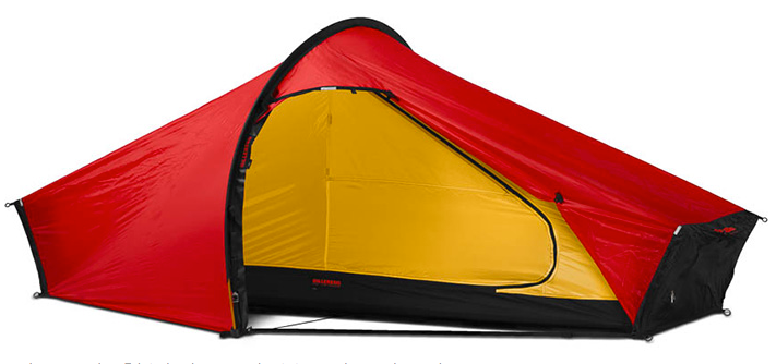 1 Person Akto Tent by Hilleberg - Green, Red, Sand
