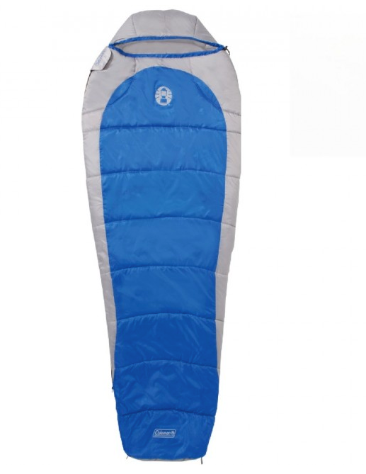 Blue and Gray Silverton 250 Mummy Sleeping Bag by Coleman