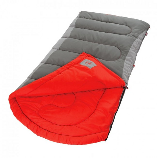 XL Dexter Point 50 Sleeping Bag by Coleman - Gray and Red