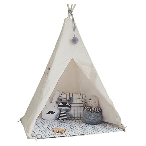 Kids Teepee Play Tent By Little Dove Cotton Canvas