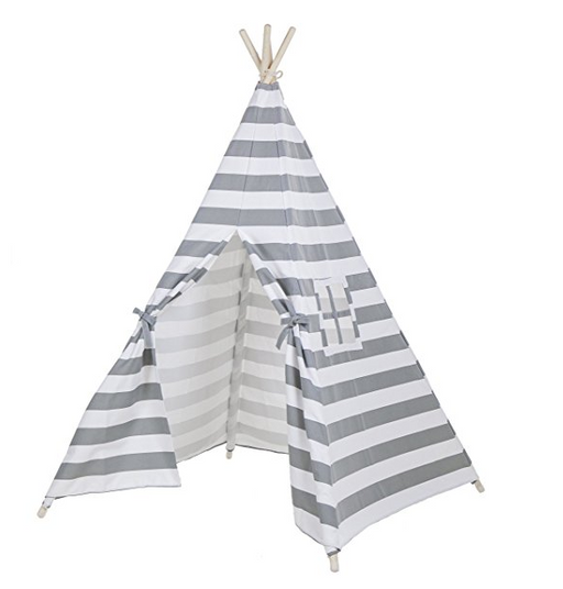 Portable Kids Canvas Teepee Play Tent by Lubber