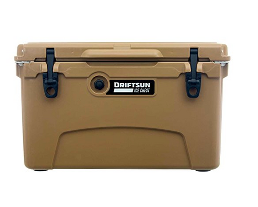 Heavy Duty Commercial Grade Cooler by Driftsun - White, Tan