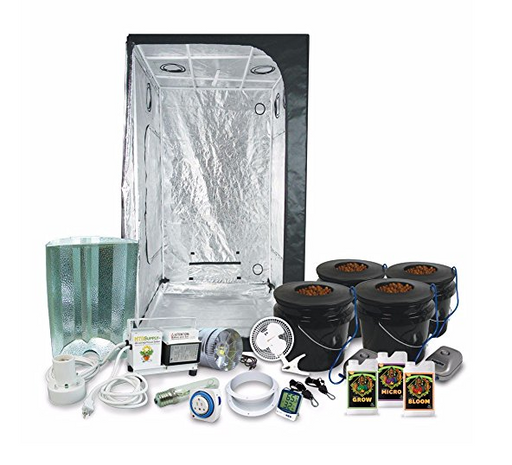 Complete 3 x 3 Grow Tent Kit by HTG Supply - Lights + Hydroponic System