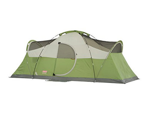 8 Person Montana Family Camping Tent by Coleman - Green, Blue, Black