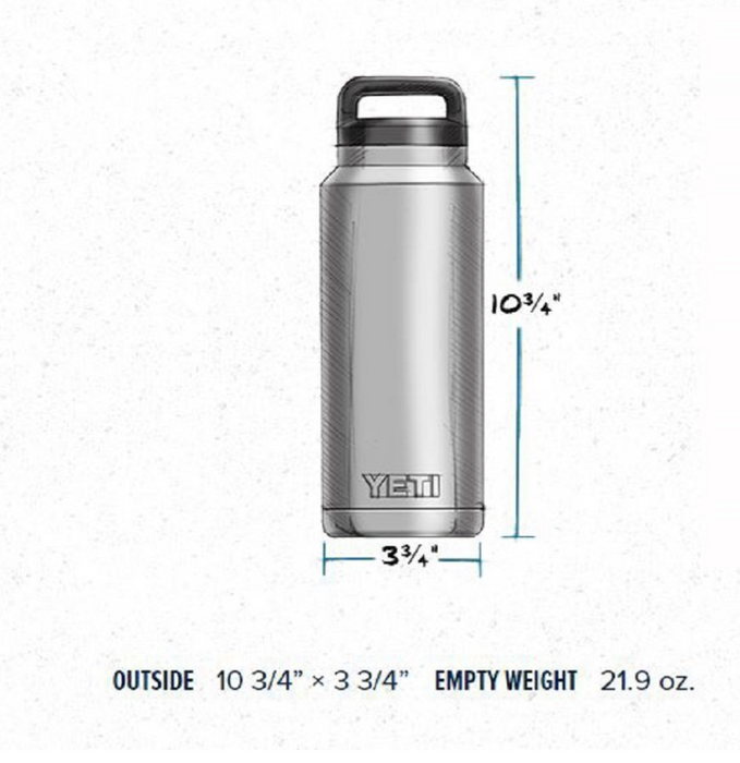 Vacuum Insulated Stainless Steel Rambler Water Bottle by Yeti - 36oz