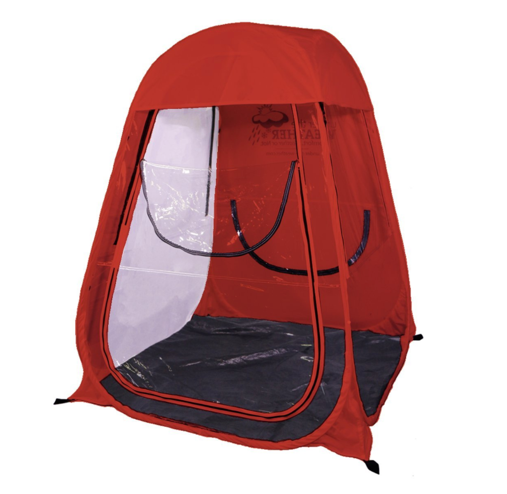 Pop Up Pod Tent By Under The Weather Red And Purple