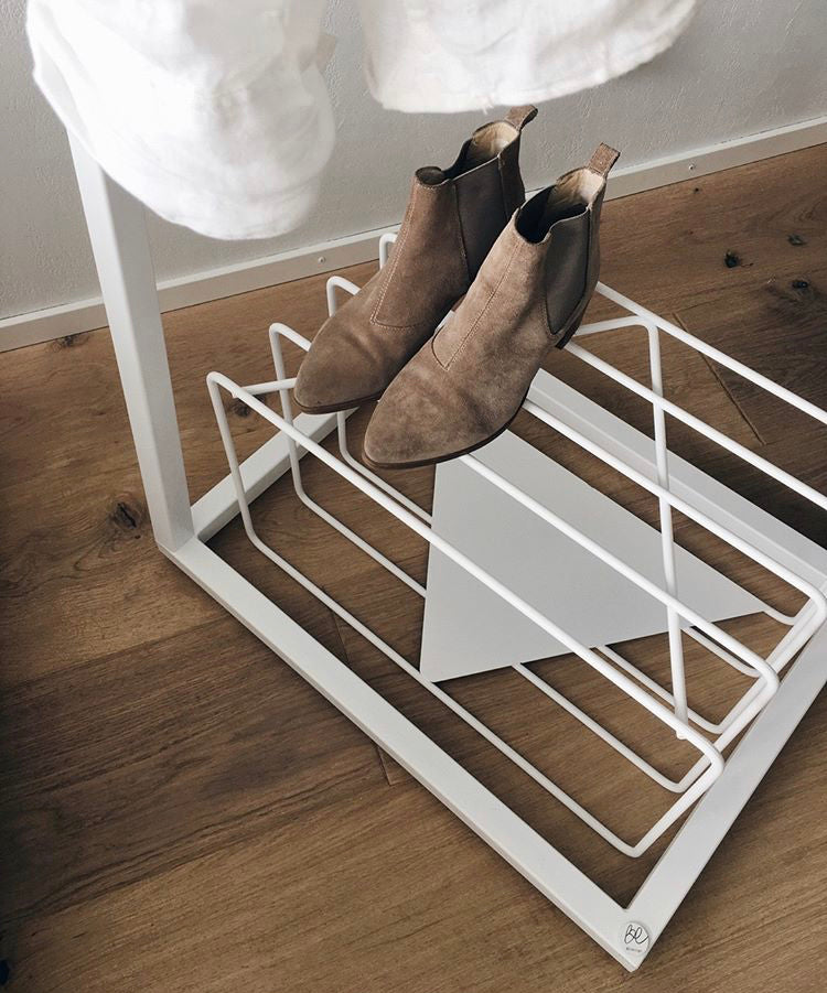LUME shoe stand white schuhregal BEdesign
