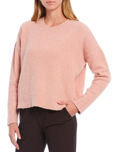 Eileen Fisher Crew Neck Box Top in Blush