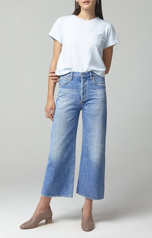 Citizens of Humanity Sacha  Hi Rise Wide Leg Cropped Jean in Tularosa