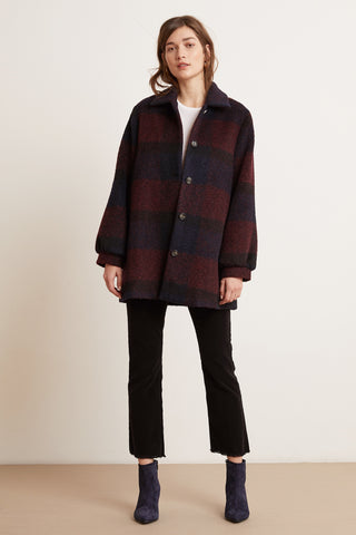 Velvet Kourtney04-F219 Plaid Coat