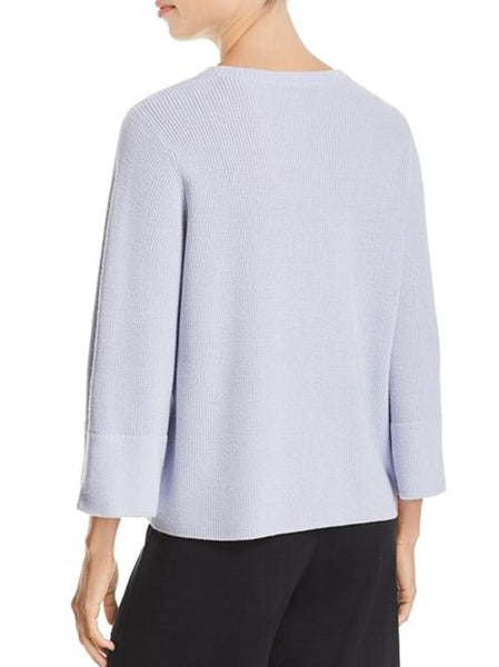 Eileen Fisher Crew Neck 3/4 Sleeve Box Top JJR