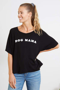 goodhYouman Betsy Dog Mama Tee in Black Sand