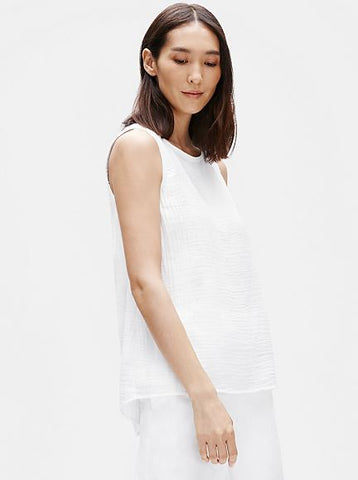 Eileen Fisher Organic Cotton Lofty Gauze Swing Shell