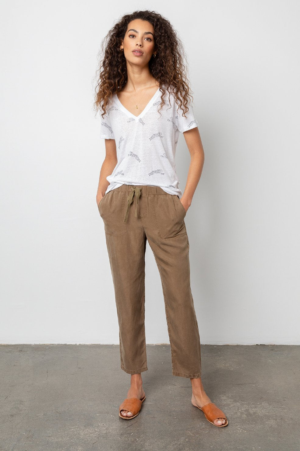 Rails Graham Tencel Drawstring Pant in Canteen