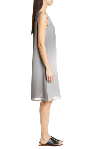 Eileen Fisher Watercolor Silk Dress - Pearl S9WSH-D4445M