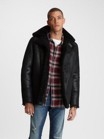 John Varvatos ROPER SHEARLING JACKET Black