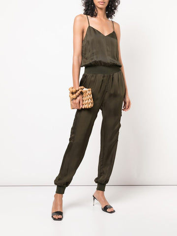 Cinq a Sept Twill Amia Jumpsuit in Olive