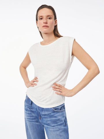 FRAME Slouchy Tank in Blanc