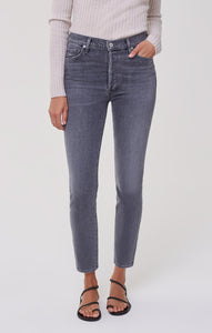 Citizens of Humanity Olivia High Slim Ankle Jean in Silvermist