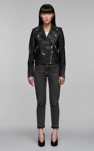 Mackage BayaF8  Classic Moto Leather Jacket