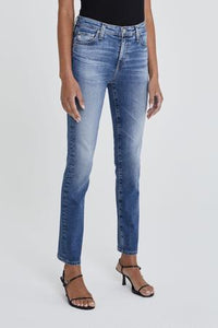 AG Mari High Waist Straight Jean in 15 Year Shoreline