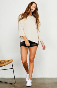 Gentle Fawn Alta 3/4 Sleeve Top in H Light Taupe